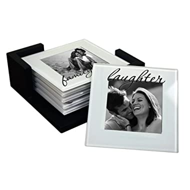 Glass Photo Coasters Set of 6 - Clear