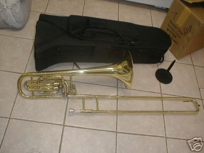 Bass Trombone with double trigger, silver