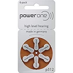 Powerone 312 hearing aid batteries