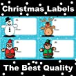 CHRISTMAS LABELS / STICKERS 4 TYPES SELF ADHESIVE LABELS TOP QUALITY PRINTED LABELS x 100 Labels