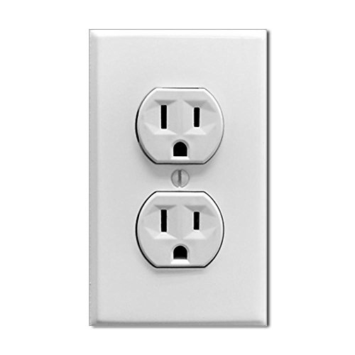 CafePress Fake Electric Outlet Sticker rectangle Sticker Rectangle - 3x5 White