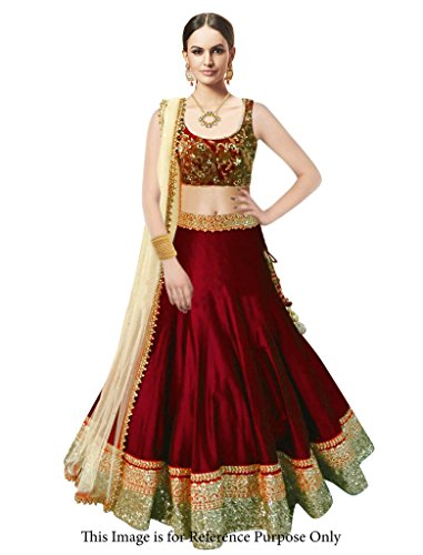 Buy Maxthon Fashion Womens Maroon Benglory Silk Embroidered