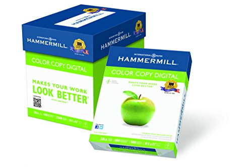 Hammermill Paper, Color Copy Digital Paper Poly Wrap, 28lb, 8.5 x 11, Letter, 100 Bright, 2500 Sheets / 5 Ream Case (102450C) Made In The USA (Digital Paper compare prices)