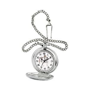 American Kennel Club Men's D1596 Bulldog Pocket Watch with Chain