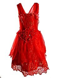 Motley Girls' Dress (3-4-577_Red_3-4 years)