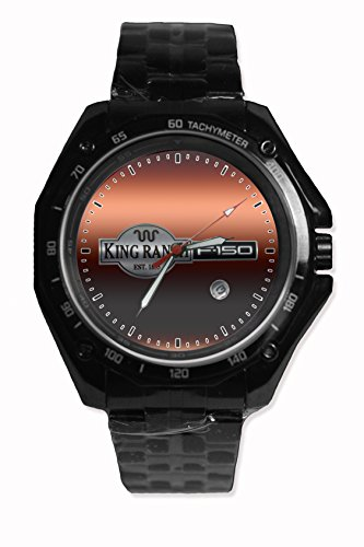 Ford King Ranch F-150 Car Logo Sport Watch Stainless Steel Black Alloy