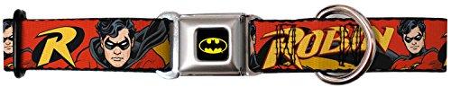 batman-robin-in-action-red-seatbelt-pet-collar-large