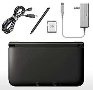 Nintendo 3DS XL Console Naked-Eye 3D Video Image with 3D Camera 3D Depth Dual Screen Motion Gyro Sensor Control Bundle Super Mario 3D Blue, USB Cable, AC Adapter, 4GB SD Card, Pen Stylus Black from Nintendo