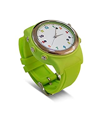 Cada Gifts for Kids Smartwatch with Wireless Charging Gps Sos Colorful Smart Watch Sync to Android IOS Smart Phone (Fresh Green)