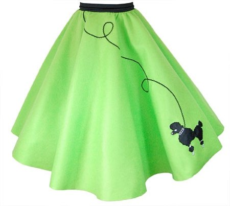 Hip Hop 50S Shop Adult Poodle Skirt (Xs/S, Lime Green)