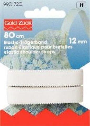 Ruban élastique pour bretelles 12 mm blanc