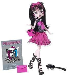 Mattel Monster High Y8497 -  Draculaura, Puppe mit Jahrbuch