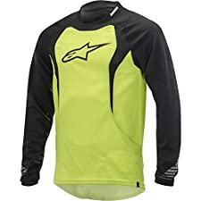 Alpinestars Drop Long Sleeve Jersey, Yellow Fluorescent/Black, Medium