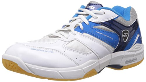 Yonex SHB SC2EX Badminton Shoes, UK 7 (White\/Skyblue) (multicolor)
