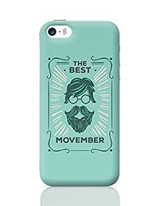 PosterGuy iPhone 5 / iPhone 5S Case Cover - The Best Movember - Green Hipster with Round Spectacles | Designed by: Codeburnerz Technologies