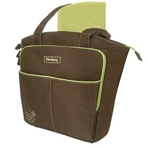gerber tote diaper bag brown discontinued by manufacturer baby. Black Bedroom Furniture Sets. Home Design Ideas