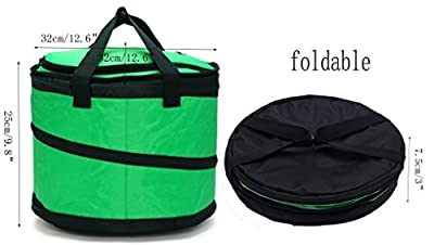 MIER 30 Can Collapsible Soft cooler bag for Party, Golf, Grocery, Picnic, Leakproof Liner, Fits in Suitcase, Green