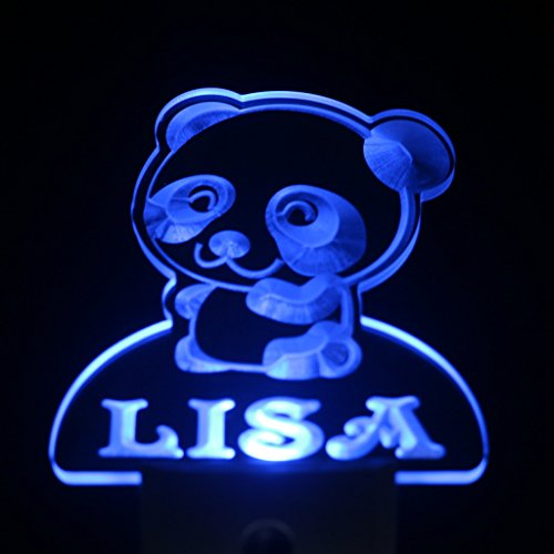 Ws1024-Tm Panda Personalized Night Light Baby Kids Name Day/ Night Sensor Led Sign