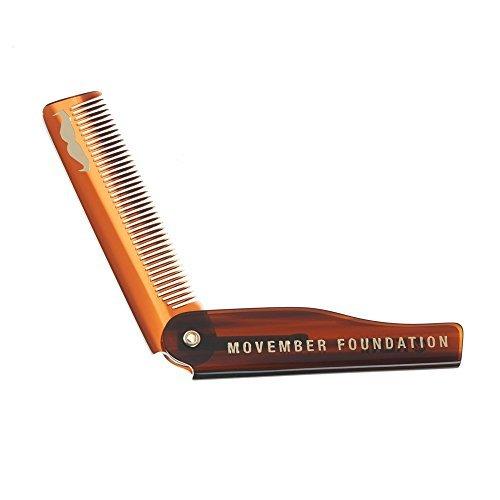 GB Kent Movember Edizione Speciale pieghevole pettine da barba