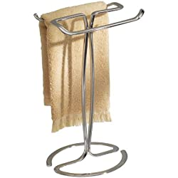 InterDesign Axis Towel Holder for Bathroom Vanities - Chrome