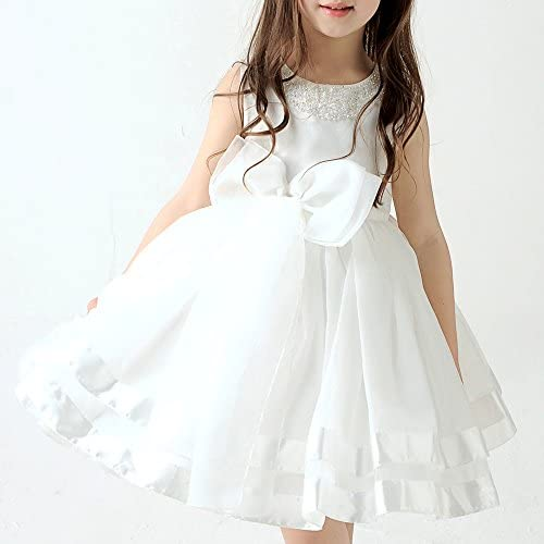 어린이 키즈 드레스 발표 파니에내장 d-0006화이트 커다란 리본 드레스