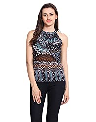 Multicolor Printed Polyester Jersey Top Large
