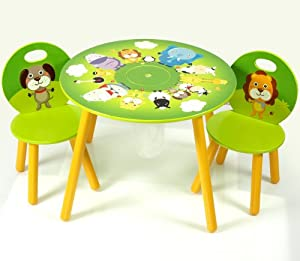 kids wooden round table and chairs set with storage jungle childrens tables. Black Bedroom Furniture Sets. Home Design Ideas