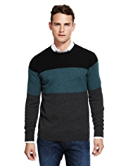 Autograph Pure Merino Wool Colour Block Jumper