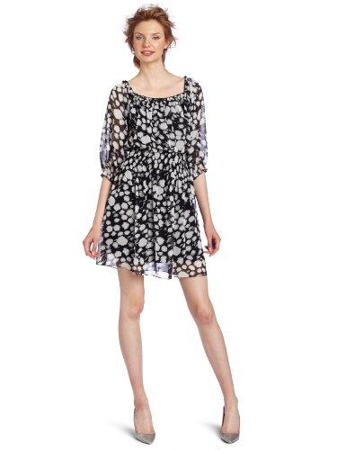 maxandcleo Women's Scarlett Dot Dress, Ecru, X-Small
