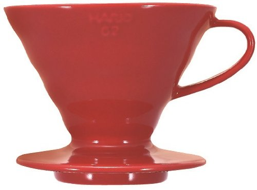 Hario V60 Ceramic Coffee Dripper (Size 02, Red)