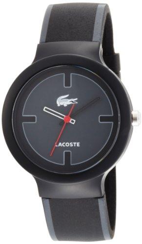 Lacoste Goa Black Dial Polyurethane Strap Unisex Watch 2010525