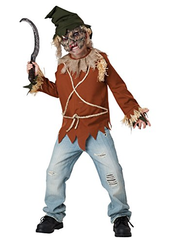 [InCharacter Costumes Psycho Scarecrow Costume, Size 10/Large] (Scary Scarecrow Halloween Costumes)