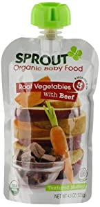 Sprout Stage 3 Organic Baby Food, Root Vegetables with Beef, 4.5 Ounce (Pack of 5)