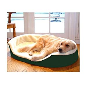 Majestic Pet 23-Inch by 18-Inch Lounger Pet Bed Small, Red