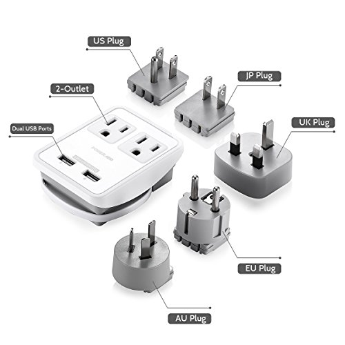 Poweradd [UL Listed] 2-Outlet International Travel