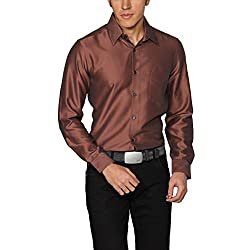Provogue Men's Casual Shirt (8903522441110_103524-OR-460_Small_Copper)