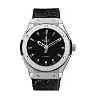 Hublot Classic Fusion Automatic Black Dial Black Leather Mens Watch - 542.NX.1170.LR by Hublot