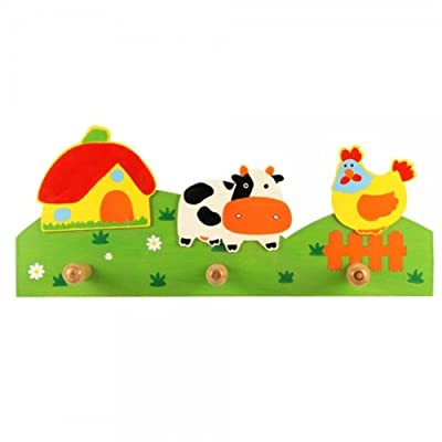 Animal background safari coat hooks (Cow, Rooster/Chicken) - LIMITED STOCK