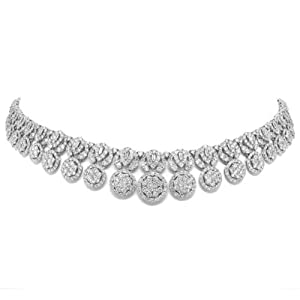 26.11ct 18k White Gold Diamond Necklace