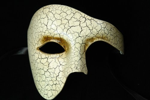 NEW Laser Cut Venetian Style Masquerade Mask for Costumes - Elegantly Designed Crusted Phamtom Design by KBMasks