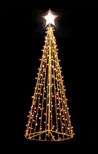 10 outdoor christmas tree frame display with 100 led lights