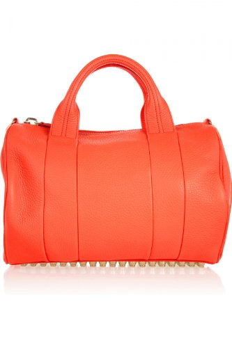 Alexander Wang Women's The Rocco Textured Leather Bag Tangerine One Size