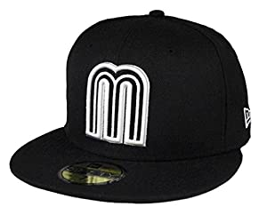 Buy New Era 59fifty World Baseball Classic Mexico fitted hat cap Black White Men size