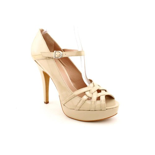 Vince Camuto Marken Womens Size 10 Nude Peep Toe Patent Leather Mary Janes Shoes