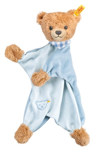 Steiff Sleep Well Bear Comforter Plush, Blue