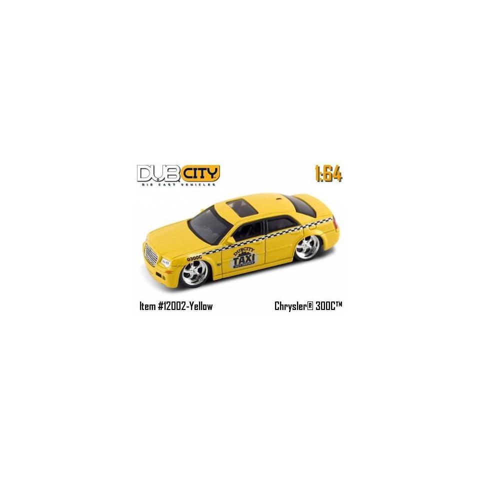 Dub City Kustoms 164 Scale Chrysler 300C Yellow Taxi Die Cast Car Jada