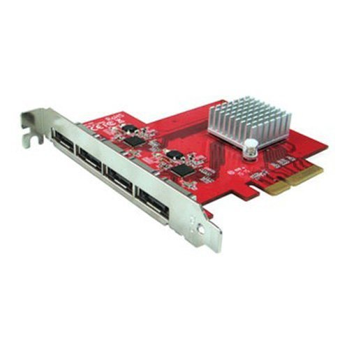Oodelay PE-134 eSATA III 6Gbps 4 Ext Port PCI-e Host Controller for Mac/PC Port Multiplier Capable (Sata Ahci Controller compare prices)