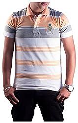 Protex Men's Cotton Polo (3205Ptsl, Peach, L)
