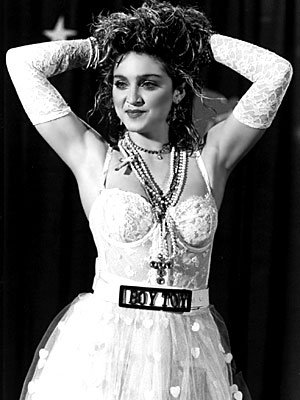 Madonna Rhinestone Boy Toy Belt Buckle With FREE Leather Belt (Large (36-40 Inch Waist))