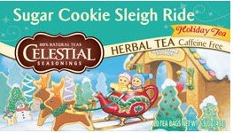 Celestial Seasonings Celestial Seasonings, Holiday Herbal Tea, Sugar Cookie Sleigh Ride, Caffeine Free, 20 Tea Bags, 1.5 oz (43 g) - Case of 6 - 20 Bag
